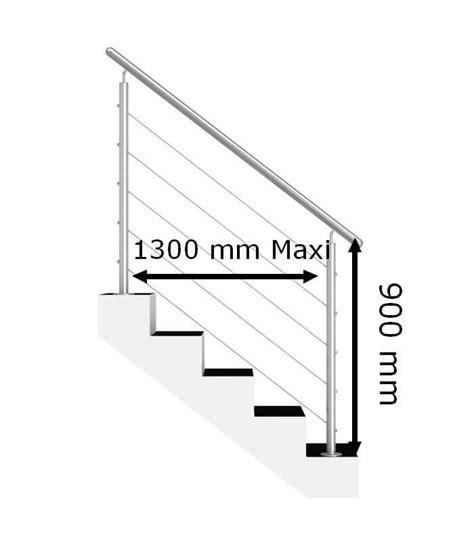 altezza corrimano scala kit ringhiera scala riempimento 5 cavi