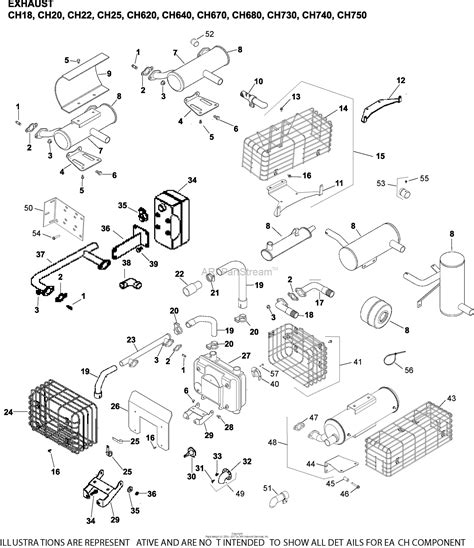 17 Hp Kohler Engine Diagram by Kohler Ch23 76566 Toro 23 Hp 17 2 Kw Parts Diagram For