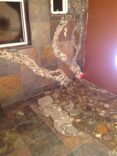 images  master bath river rock shower