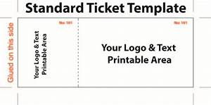 standard admission ticket template with logo and text area With entry tickets template