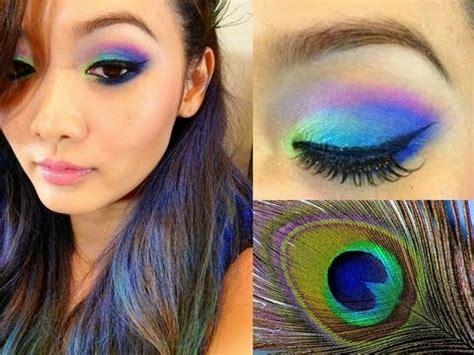 Peacock Makeup Tutorial Halloween Youtube