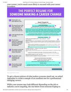 resume templates for career change