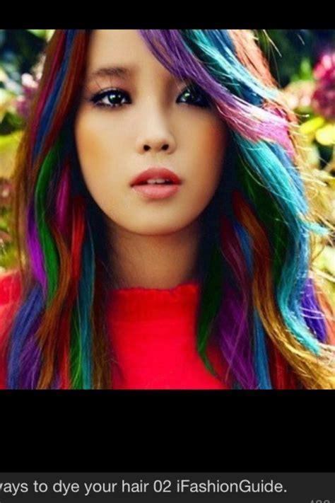 Kool Aid Dyed Rainbow Hair Health And Beauty Hair