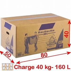 Carton De Déménagement Gratuit : carton de demenagement 160 litres ~ Premium-room.com Idées de Décoration