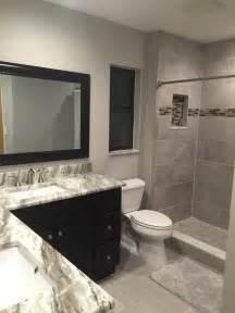 bathroom sink backsplash ideas bathroom remodel in quot greige quot tones brown granite