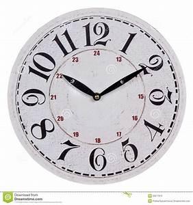 Horloge Murale Blanche : vieille horloge murale blanche ronde photos stock image ~ Teatrodelosmanantiales.com Idées de Décoration