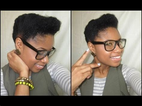 Natural Hair   Retro Updo Tutorial   YouTube