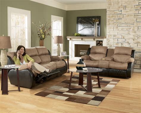 living room l sets ashley furniture presley 31501 cocoa living room set