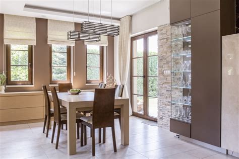 dining room window treatments motorized blinds shades