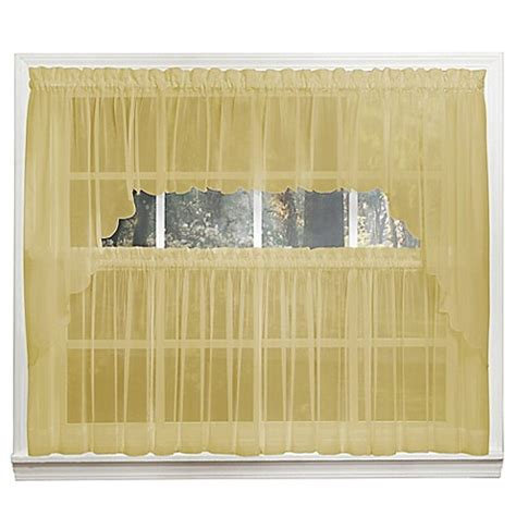 14 Inch Valance by Buy Emelia 14 Inch Sheer Window Valance In Gold From Bed