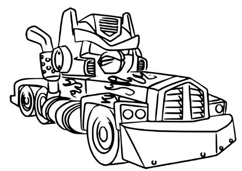 Optimus Prime Coloring Pages Printable - Eskayalitim