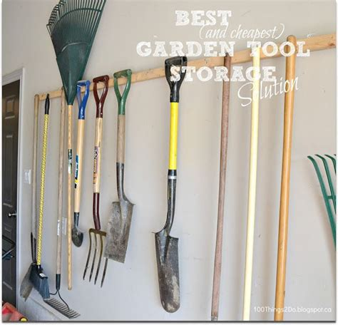garden tool storage best and cheapest way to store