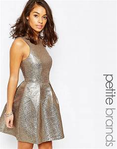vero moda petite vero moda petite shimmer skater dress With robe vera moda