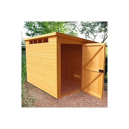 10X6 Security Cabin Pent Shiplap Wooden Shed   Departments