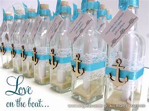 Wedding invitation - Message in a bottle - Anchor