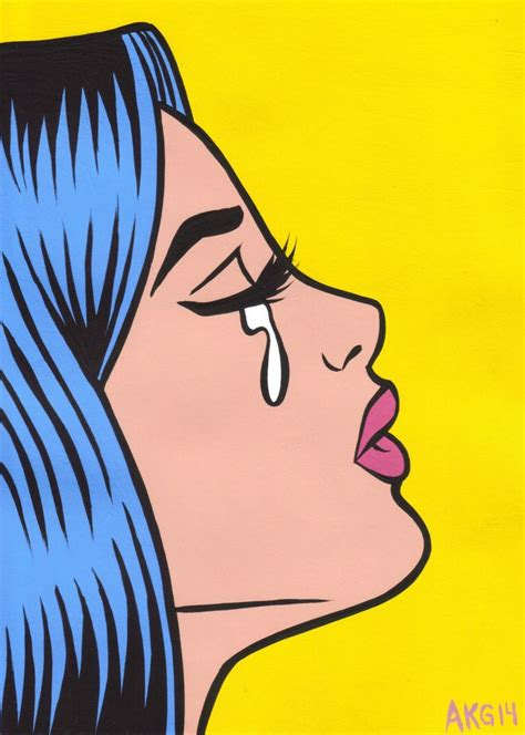 gallery pop art girl crying drawing art gallery