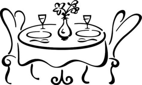 dining table with food clipart black and white dining pictures cliparts co