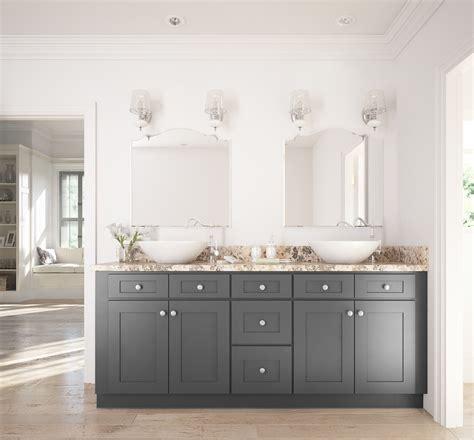 graphite grey shaker ready assemble bathroom vanities