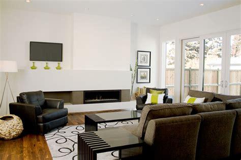 livingroom calgary fifth element concrete splash and fireplace surround modern living room calgary by
