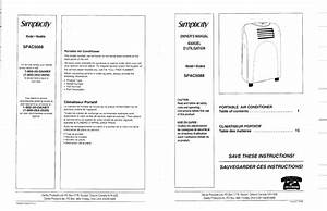 Danby Air Conditioner Spac5088 User Guide