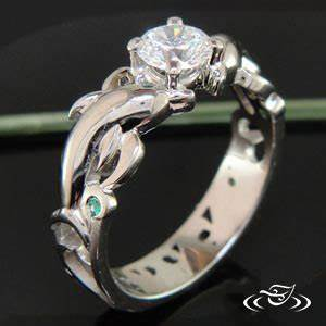 dolphin wave mounting With dolphin wedding ring sets