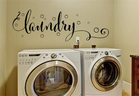Laundry Room Decor  Laundry Wall Decal With Bubbles