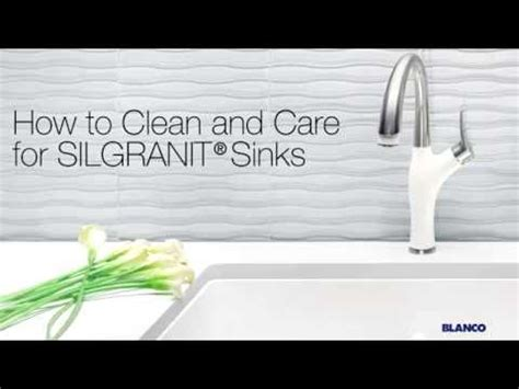 how to clean silgranit kitchen sinks how to clean and care for your silgranit sink 8580