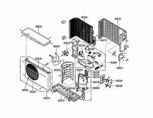 Outdoor Unit Diagram  U0026 Parts List For Model Hmh024kd1 Icp