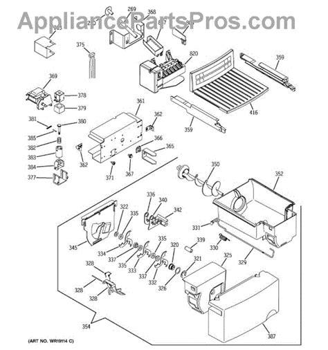 parts  ge gsswgmdww ice maker dispenser parts appliancepartsproscom
