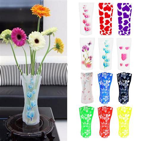 collapsible flower vase 5pcs foldable plastic unbreakable reusable flower decor