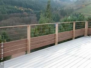 Garde Corps Exterieur Bois : garde corps bois inox fc terrasse bois ~ Dailycaller-alerts.com Idées de Décoration