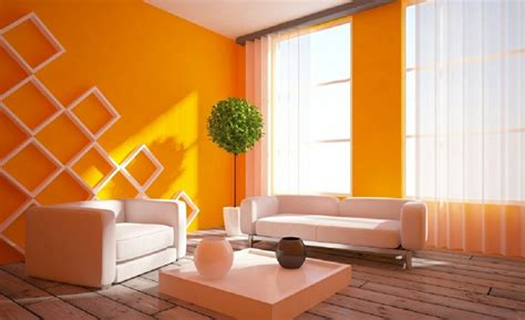 simple wall painting designs in orange colour 80 installation exles with positive effects for wall Simple Wall Painting Designs In Orange Colour