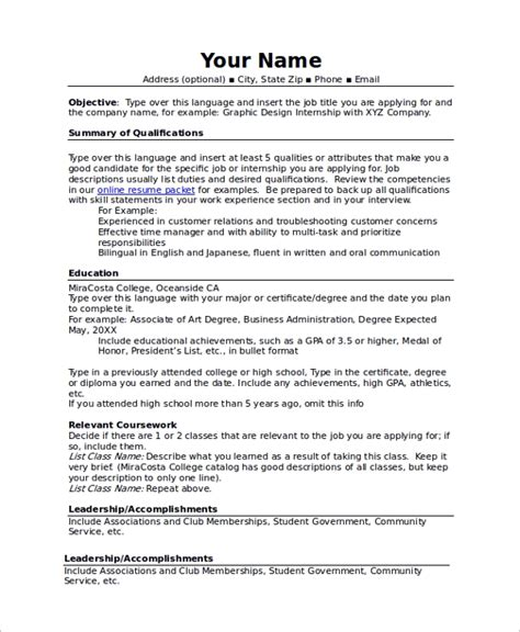 Combination Resume Template by Sle Resume 34 Documents In Pdf Word