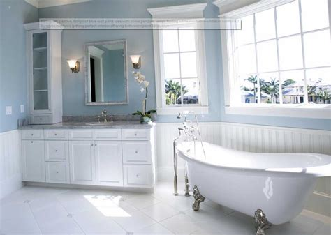 color ideas for bathrooms one of the best paint colors for bathrooms blue wall