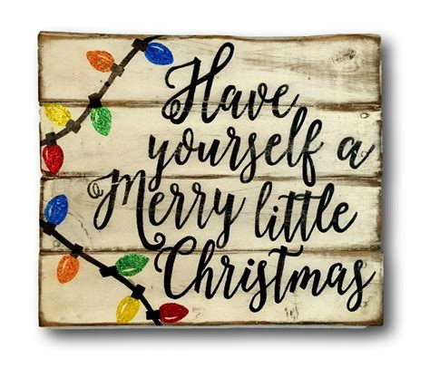 have yourself a merry little christmas wood sign rustic