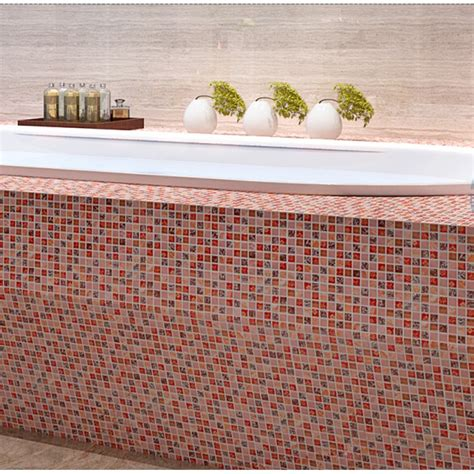 Pink Crackle Glass Bathroom Accessories by Tile Crackle Glass Tile Shower Wall