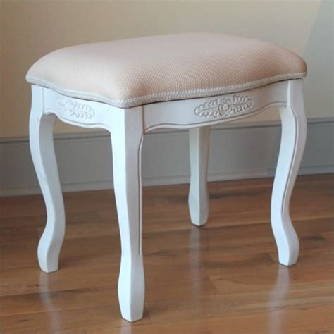 white vanity stool vanity stool with cushion top in white 3963 aw