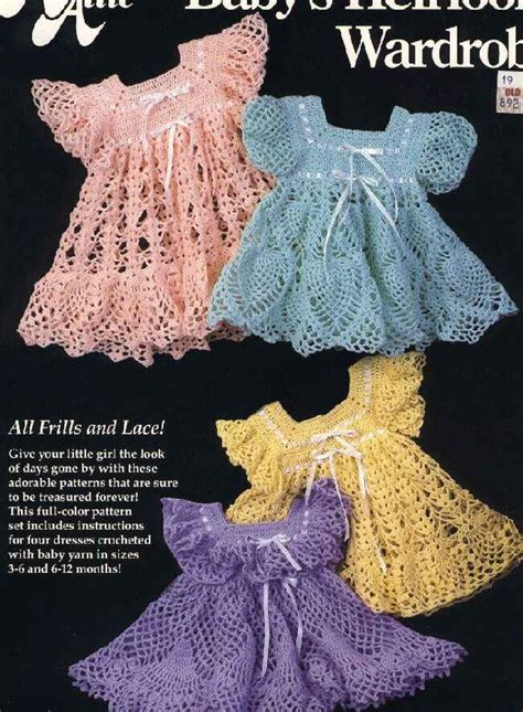 baby heirloom wardrobe  crochet dress patterns