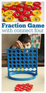 Fraction Game { with connect 4 }