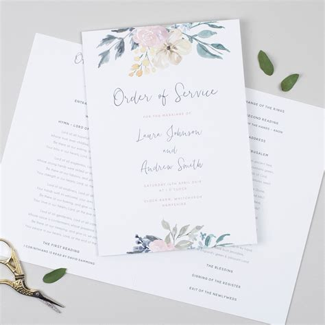 order  service templates  inspiration  weddings