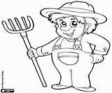 Granjero Farmers Agricultor Contadino Coloring Colorear Farmer Colorir Pintar Colorare Fazendeiros Disegni Desenhos Granjeros Contadini Um Bauernhof Ausmalbilder Dibujos Landbouwer sketch template