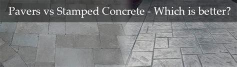 sted concrete vs pavers tile tech pavers