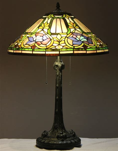 tiffany style stained glass table l quot baroque quot w 18