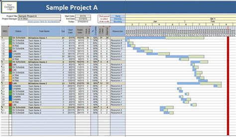 gantt project planner template printable planner template