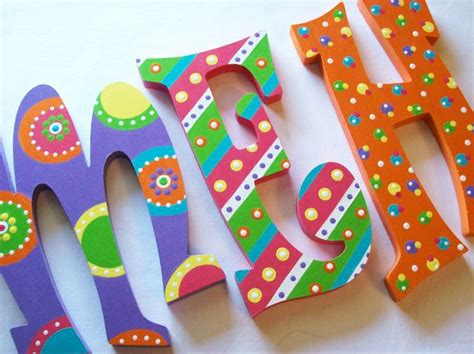 painted wooden letters 17 best ideas about paint wooden letters on