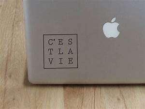 C U0026 39 Est La Vie Laptop Decal Laptop Sticker By Cutthesheet On