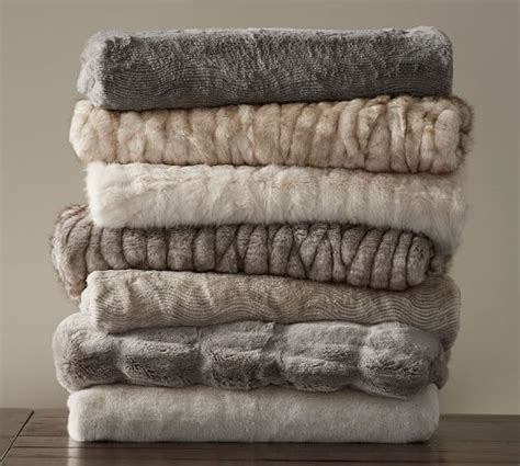 pottery barn throw fur throw rug furniture shop