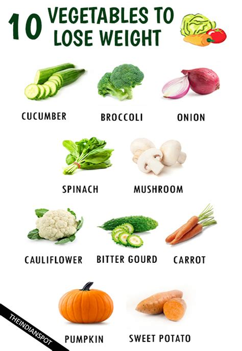 top  healthy vegetables  quickly lose weight
