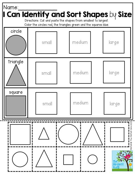kindergarten shape cutting worksheets 1000 images about