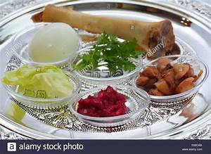 Passover Seder Plate with The seventh symbolic item used ...